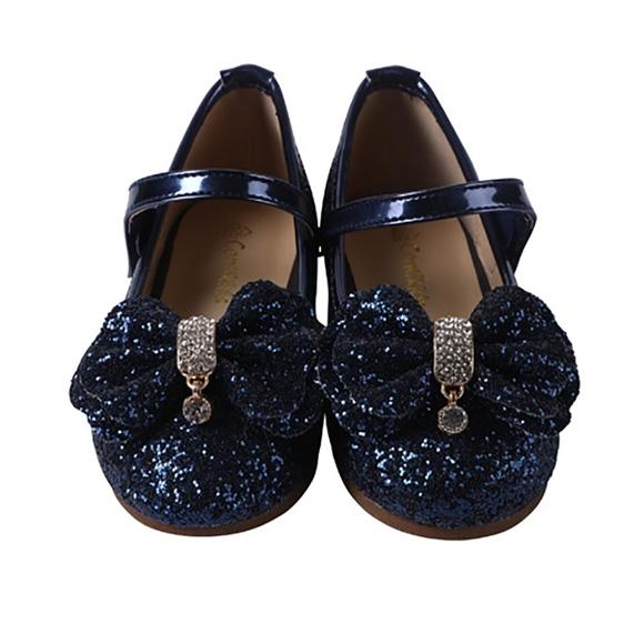 ebcfad4d ContiKids Shoes | Girls Mary Jane Glitter Ballerina Flat Navy | Poshmark